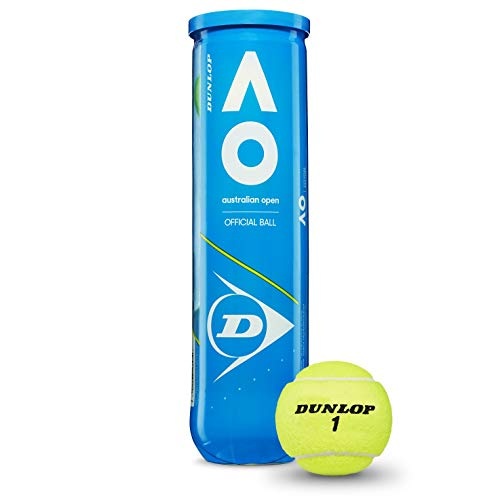 Dunlop Australian Open Tennisbälle, Gelb, Einheitsgröße