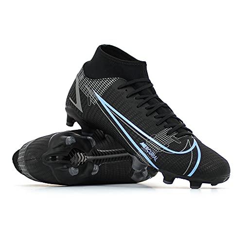 Nike Herren Superfly 8 Academy Fg/Mg Fußballschuh, Black/Black-Iron Grey, 45 EU