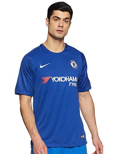 Nike Herren Breathe Chelsea Stadium Trikot, Rush Blue/White, L