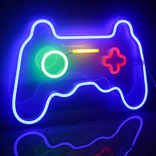 Ineonlife Spiel Leuchtreklame Gaming Neon Schild Übergröße Spielförmige Leuchtreklamen Neonlicht für Wand...