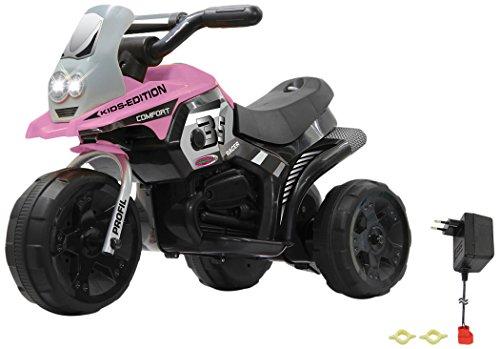 Jamara 460228 - Ride-on E-Trike Racer pink - 6V Akku, elektrisches Dreirad mit extra starkem Bürstenmotor,...
