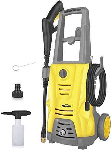 Oasser Hochdruckreiniger Elektrischer Hochdruckreiniger 1400W 125 Bar 380L / H mit Spritzpistole 5 Stück...