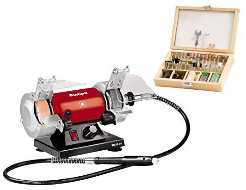 Einhell Doppelschleifer TH-XG 75 Kit (120 W, max. 9900 min-1, Ø75 x ø10 x 20 mm Schleifscheiben, Körnung...