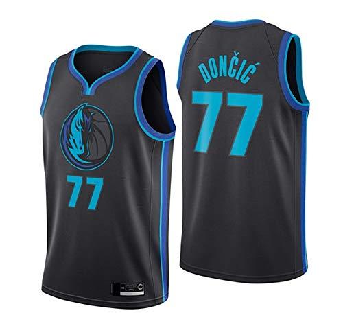 Männer Basketball Jersey, Dallas Mavericks # 77 Luka Doncic NBA-Trikots Lose Und Atmungsaktive T-Shirts...