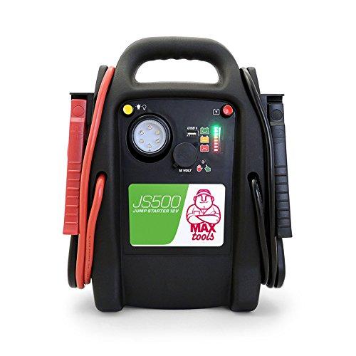 MAXTOOLS JS500 Batterienotstarter für Autos und Transporter, 2200A 22Ah, für Diesel-Benzinmotoren, Booster...