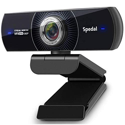 Webcam mit Mikrofon für PC Webcam 1080p Full HD 60fps Streaming Webkamera mit Low-Light Korrektur Webcam USB...