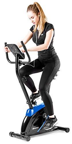 Hop-Sport Onyx Heimtrainer Fahrrad - Fitnessgerät für Zuhause mit Pulssensoren und Computer, 8...