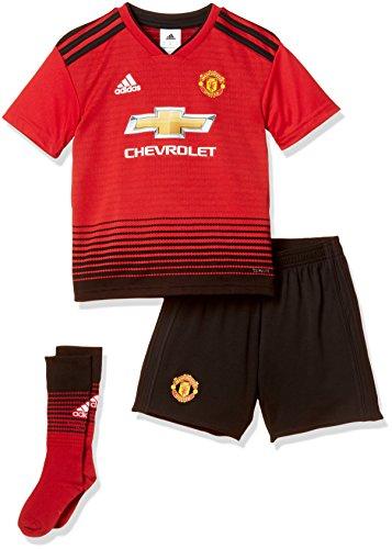 adidas Kinder Manchester United FC Home Mini heimausrüstung, Real Red/Black, 104