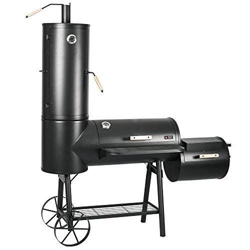Mayer Barbecue RAUCHA Smoker MS-400 Master Holzkohlegrill XXL Smoker Grill, 2 Deckelthermometer, Massiv 124...
