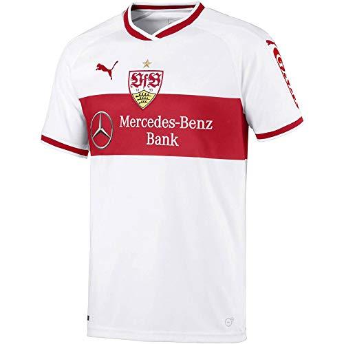 PUMA Trikot VfB Stuttgart Home Replica Shirt w.Sponsor, Puma White-Ribbon Red, S, 924546