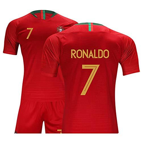 Djzpp Fußballtrikot , Trikot Kinder , Nr. 7 Trikot, Portugal Trikot, Kurzarmtrikot, Erwachsenen- Und...