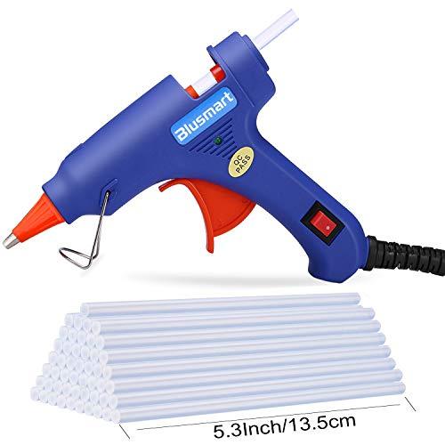 Blusmart GGC00030 - Verbesserte Version Mini klebepistole Kleber-Sticks, 30 pcs (20 Watt, blau)