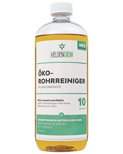 Heldengrün® Öko Rohrreiniger [BIO POWER-FORMEL] - 100% pflanzenbasiert & schonend - Abflussreiniger gegen...