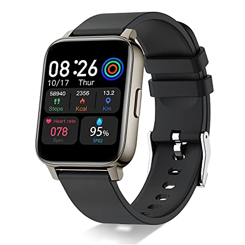 Smartwatch,1.69 Zoll Touch Farbdisplay Fitness Armbanduhr mit Pulsuhr Schlafmonitor Fitness Tracker IP68...