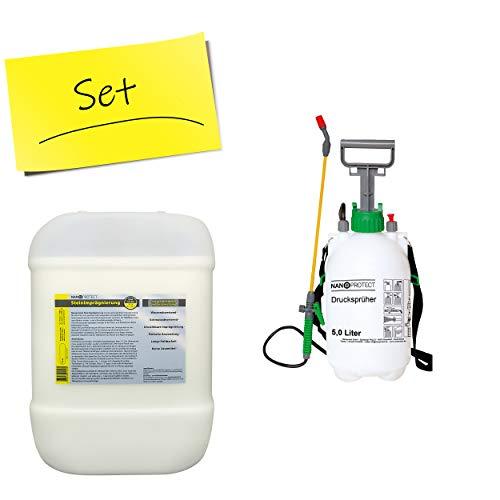 Nanoprotect Steinimprägnierung mit Drucksprüher | Profi Qualität | Vorbeugend gegen Grünbelag und...