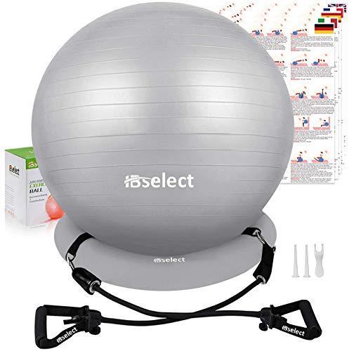 HBselet Gymnastikball Sitzball Gymnastic Ball Medizinball Pezziball mit Wiederstands Bänder Handgriff...