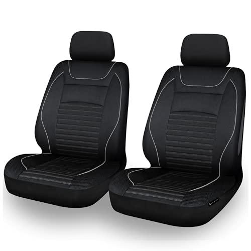 EDELWORKS® Autositzbezüge Vordersitze in Premium Design (2er Set) - Universell passende Auto Sitzbezüge...