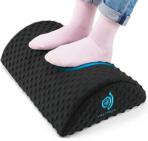 HUANUO Ergonomische Fußstütze für den Schreibtisch, Fußstützen mit 2 optionalen Bezügen, Geeignet für...