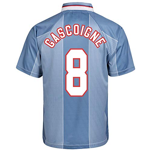 Score Draw England Away Gascoigne 8 Retro Trikot Euro 96 (Retro Flex Beflockung) - XL