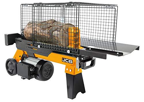 JCB Holzspalter hydraulisch 4 Tonnen Spaltkraft liegend (1500 Watt, 2 PS, Spaltdurchmesser Ø 250 mm,...