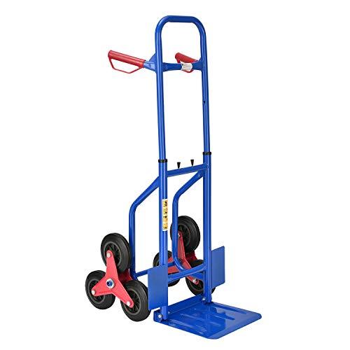 Juskys Treppensackkarre klappbar | 100 kg belastbar | Hartgummireifen | Kunststoff Griffe | Stahl Rahmen |...