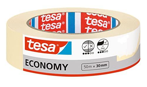 tesa Malerband ECONOMY - Vielseitiges Klebeband für Malerarbeiten ohne Lösungsmittel - Bis zu 4 Tage nach...