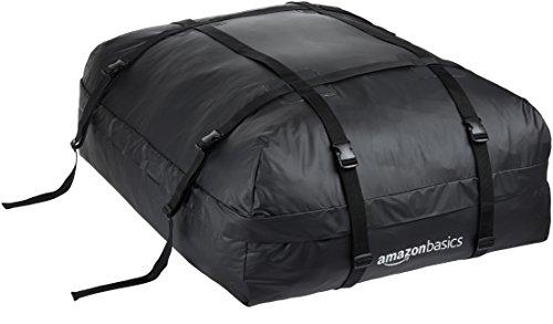 Amazon Basics - Dachgepäckträger-Tasche, Schwarz, 425 l