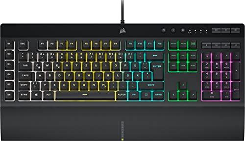 Corsair K55 RGB PRO Kabelgebundene Membran-Gaming-Tastatur (Dynamische RGB-Hintergrundbeleuchtung, 6...