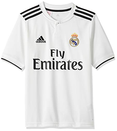adidas Kinder 18/19 Real Madrid Home Trikot, core White/Black, 128