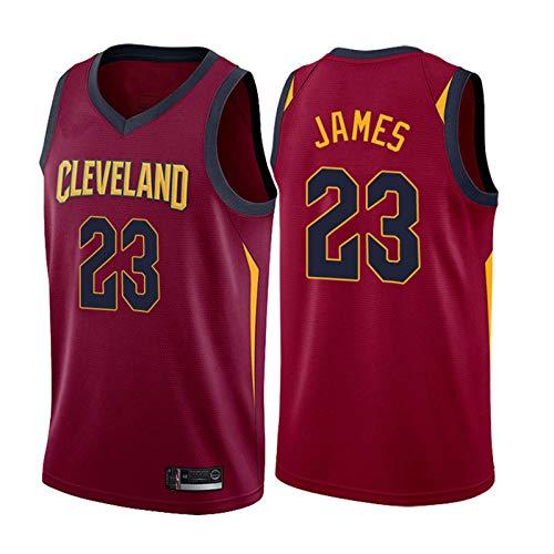 Basketball Trikot Lebron James # 23 Cleveland Cavaliers, Swingman-Trikot für Herren, Stickerei schnell...