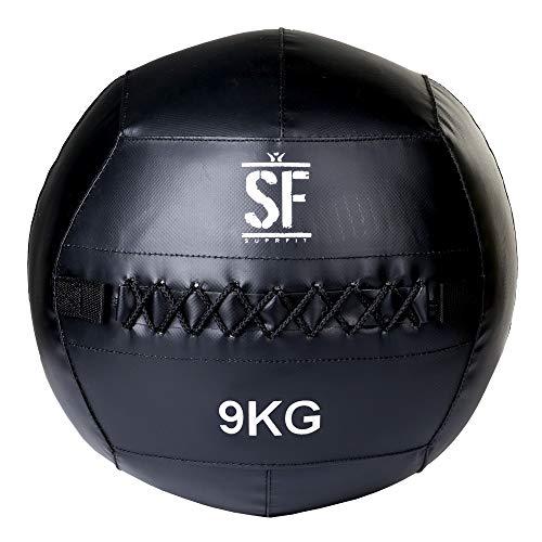 Suprfit Wall Ball - Medizinball für Cross Training und Functional Training, Gewichtsball mit griffiger...