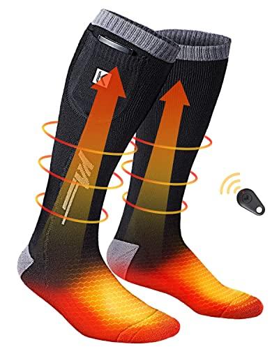 Beheizbare Socken, 3.7V 2600mAh beheizte Socken, Wiederaufladbaren Batterien Socken mit Drahtloser...