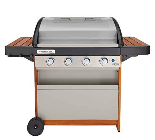 Campingaz Gasgrill 4 Series Dual Heat, BBQ mit 2 separaten Grillzonen, 4 Edelstahlbrennern, InstaClean...