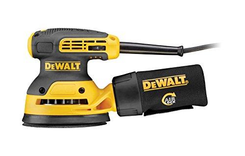 DeWalt Exzenterschleifer (mit Absaugung, Staubfangbehälter, staubgeschütztem Schalter und Getriebegehäuse...