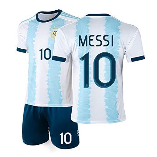 YANDDN Argentinien Trikot 19-20 America's Cup Messi 10# Fußballuniform Nationalmannschaft Uniform, kann...