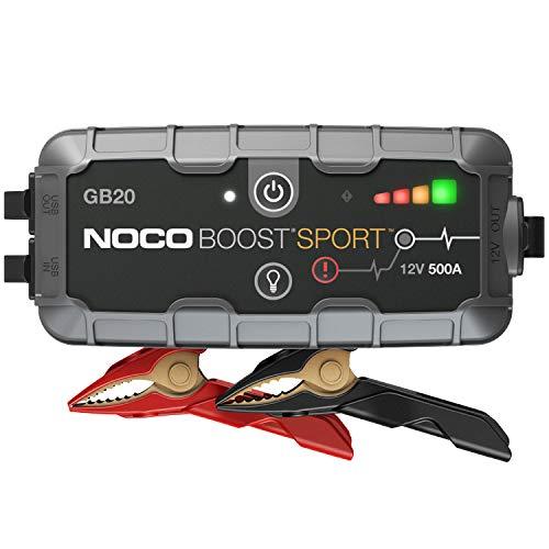NOCO Boost Sport GB20 500A 12V UltraSafe Starthilfe Powerbank, Tragbare Auto Batterie Booster, Starthilfekabel...