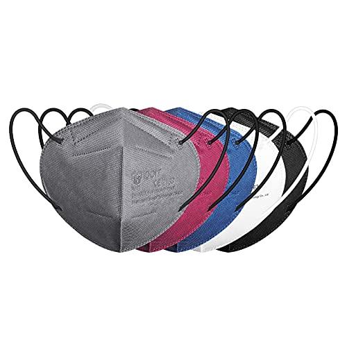 IDOIT FFP2 Masken bunt Mund und Nasenschutz Maske, 20 Stück 5 farbige CE zertifizierte bunte Atemschutzmasken...