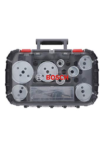 Bosch Professional 11 tlg. Lochsäge Progressor for Wood & Metal Set (für Elektriker, Zubehör Bohrmaschine)