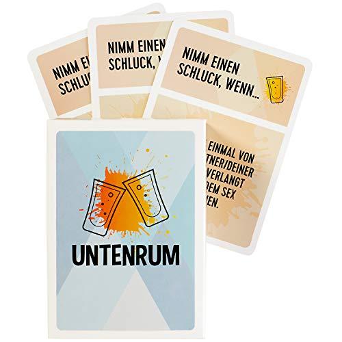 Lumunu Deluxe Trinkspiel Untenrum, versautes Partyspiel, erfahre die dreckigsten Geheimnisse deiner Freunde!...