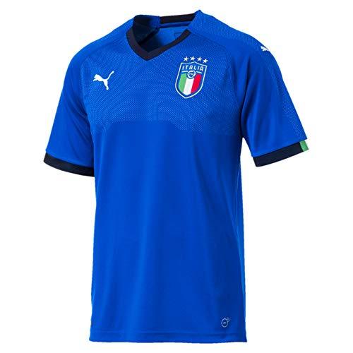 PUMA Herren Shirt FIGC Italia Home Shirt Replica SS, Team Power Blue-Peacoat, XL, 752281 01