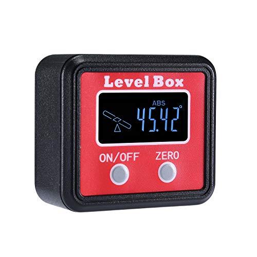 Beaspire Digitaler LCD Winkelmesser Neigungsmesser Winkelsucher Winkelmessgerät Inklinometer Level Box mit...