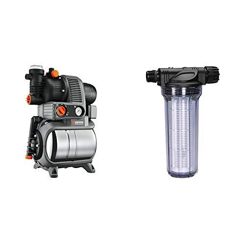 Gardena Premium Hauswasserwerk 5000/5 eco inox: Hauswasserpumpe mit Druckkessel aus rostfreiem Edelstahl, 4500...