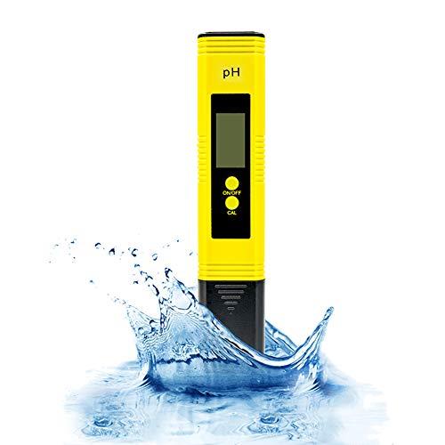 PH Messgerät,Digital PH Wert Messgerät mit LCD Anzeige und Hoher Genauigkeit Wasserqualität Tester 4 in 1...