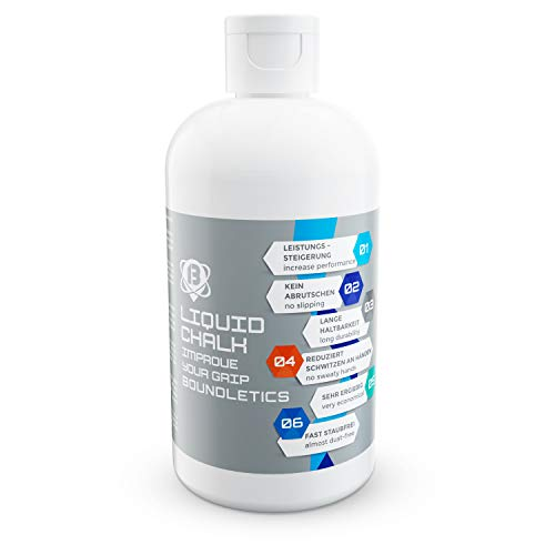 Boundletics Liquid Chalk - 250 ml Flüssigkreide - Magnesia für besseren Grip - Flüssig Kreide für Cross...