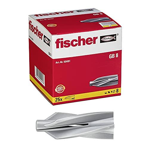 fischer GB 8 - Gasbetondübel zum Befestigen von Briefkastenanlagen, Fassaden- und Dachkonstruktionen uvm. in...