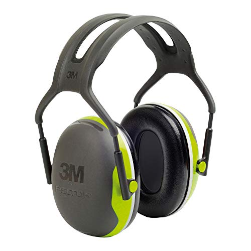 3M Peltor Kapselgehörschutz X4A neongrün - Gehörschützer mit verstellbarem Kopfbügel im schmalen...