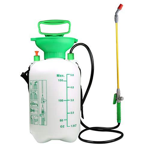 VOXON Drucksprühgerät 5 Liter, Premium Drucksprüher mit Verstellbarer Düse für Garten Jäten und...
