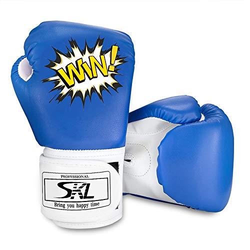 SKL Kinder Boxhandschuhe, Pu Kids Boxing Gloves Kinder Cartoon Sparring Boxhandschuhe Training Alter 5-12...