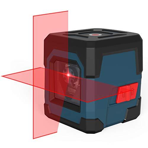 Kreuzlinienlaser, RockSeed Selbstnivellierend Linienlaser 15M ± 0,2 mm/m, Drehbar Vertikale/Horizontale Roter...