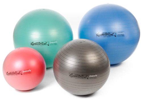 Pezziball Maxafe mit Pumpe Gymnastikball Fitnessball Sitzball 65cm rot